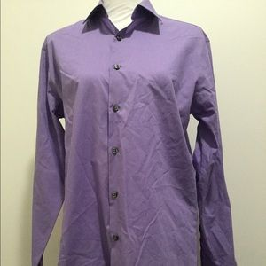 Men's Purple Dress Shirt. Size M 15-15 1/2